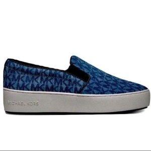 NEW MICHEAL KORS Trent Slip-On Sneaker Blue